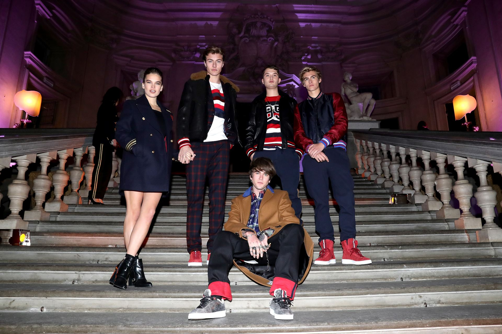webinstance Stormi Brie Lucky Blue Smith Rafferty Law Gabriel Kane Lewis and Presley Gerber 1 - style - Tommy Hilfiger Fall/Winter 2017 Review - Tommy Hilfiger, Pitti Uomo, Menswear, Fashion - Tommy Hilfiger Fall/Winter 2017 Review