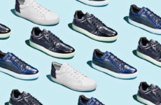 Adam Derrick's Huston White/Navy, Bronson Navy/Denim and Barton Navy Blue lace-up sneakers