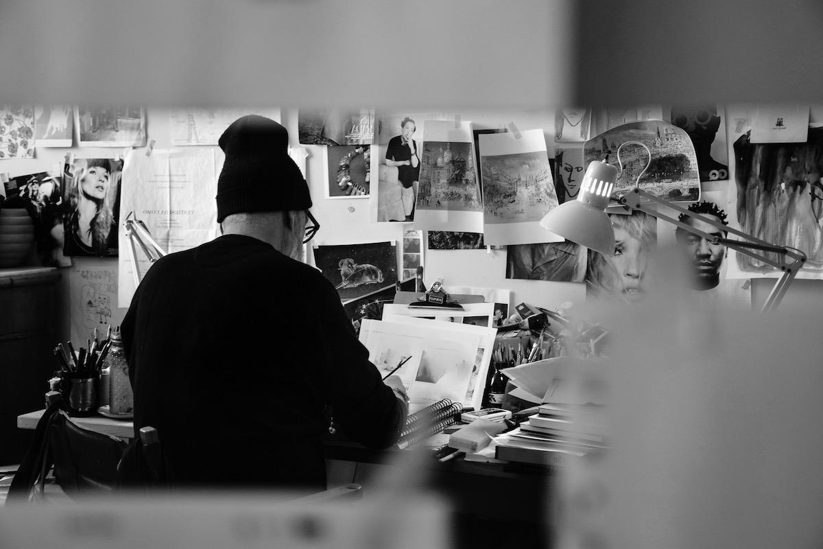 Richard Haines working
