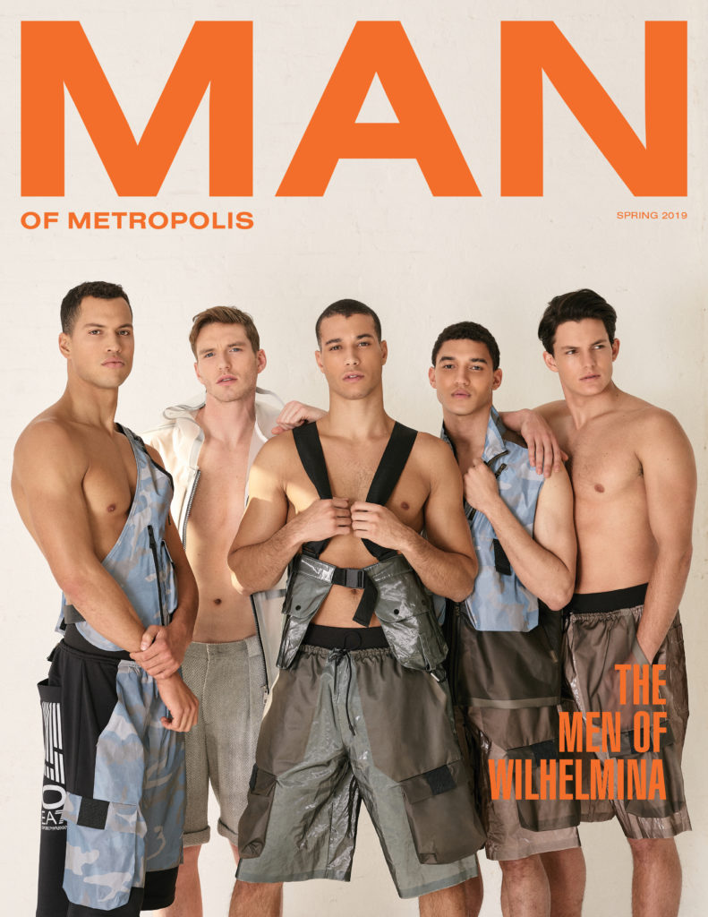 BODY ISSUE THE MEN OF WILHELMINA 791x1024 - slider, fashion - FIVE - Spring, male model, Emporio Armani, Cover - FIVE