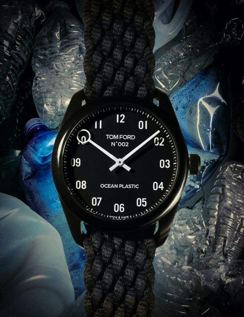 Tom Ford Ocean Plastic Watch Photo Credit Ted Morrison  1 copy 1 791x1024 - slider, fashion, culture - Ethical Luxury by Tom Ford - watch, Tom Ford, time piece, sustainability, plastic - Ethical Luxury by Tom Ford