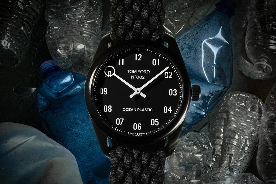 header tom ford n002 ocean plastic timepiece TFOCEANPLASTICWATCH1120 - slider, fashion, culture - Ethical Luxury by Tom Ford - watch, Tom Ford, time piece, sustainability, plastic - Ethical Luxury by Tom Ford