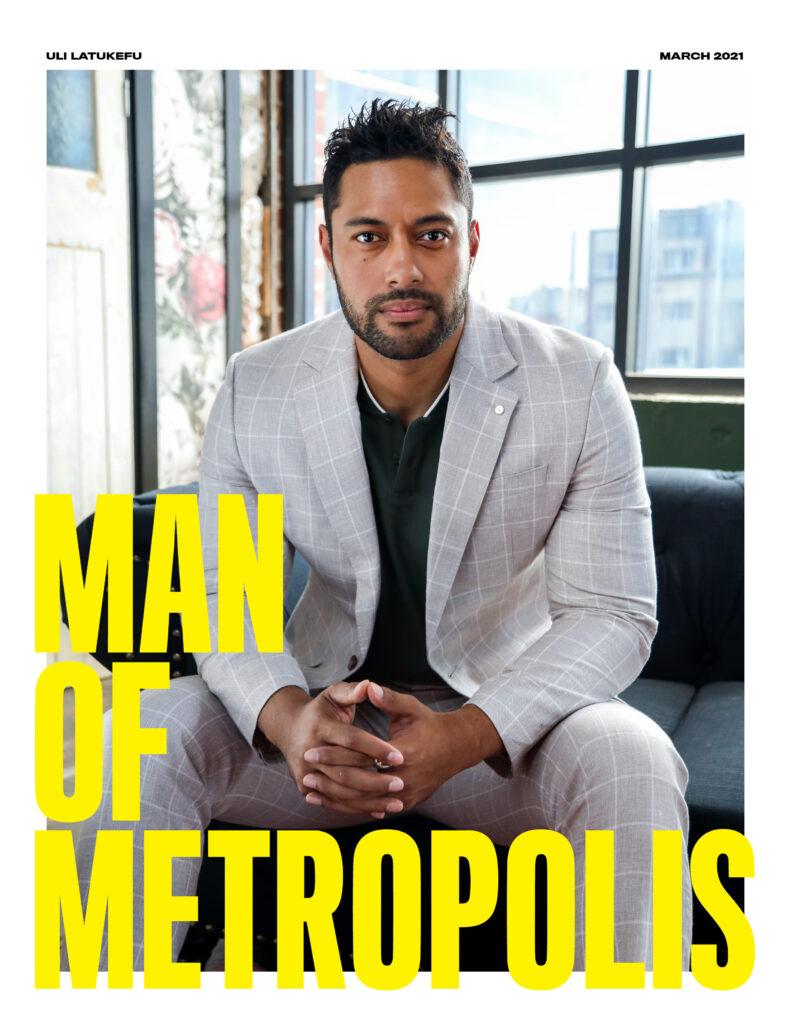 ManOfMetropolis Cover Uli 791x1024 - face-time, entertainment - Uli Latukefu - Young Rock, NBC, Facetime, Australia, Actor - Uli Latukefu